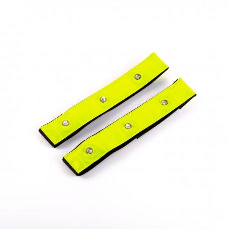 Brassards LED haute visibilité - pack de 2