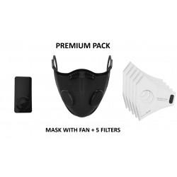 Masque antipollution premium AIRTREND – Ventilateur détable électronique